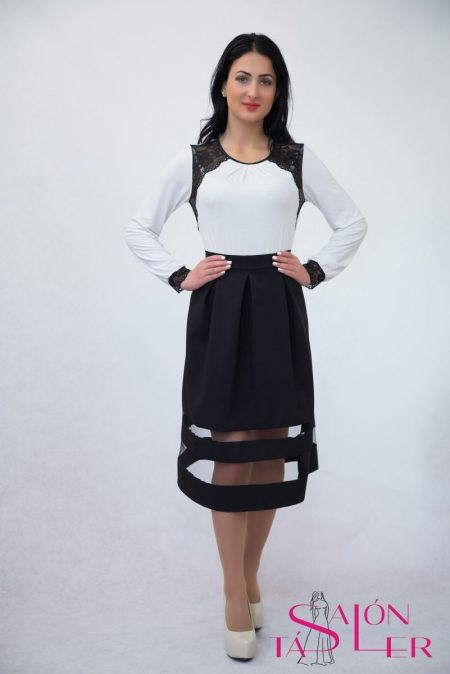 Elegantná rovná sukňa z dielne KTD STYLE Polyesterová elegantná sukňa 91e1b91632a