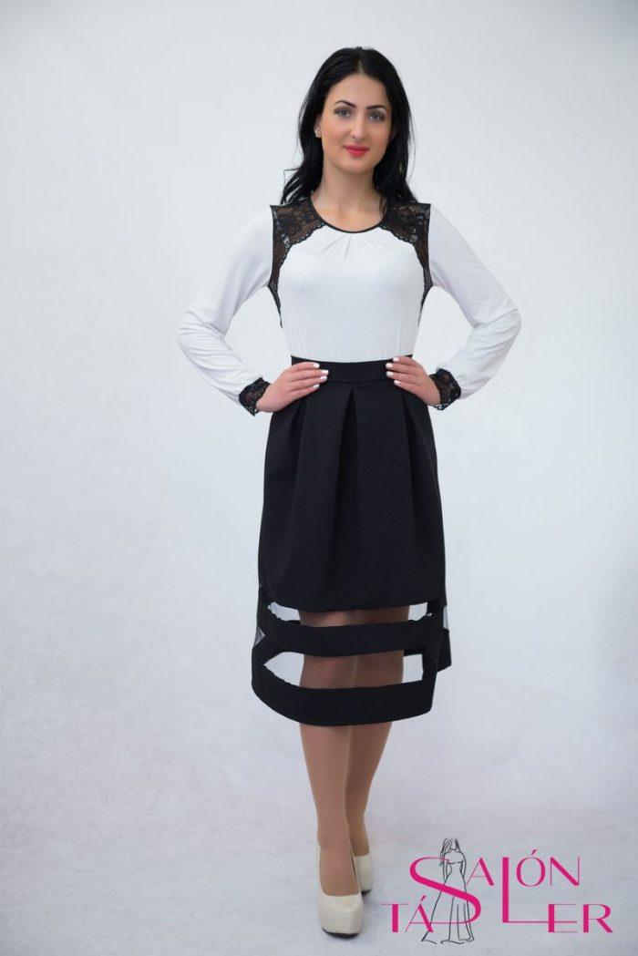 Polyesterová elegantná sukňa,salón tásler