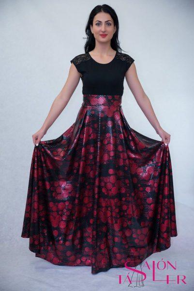 Kruhová sukňa zo spoločenského úpletu z dielne KTD STYLE