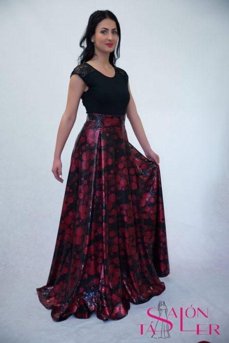 Kruhová sukňa zo spoločenského úpletu z dielne KTD STYLE spoločenská kruhová  sukňa a5061fb48b5