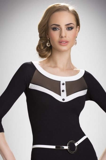EMMA - elegantný čiernobiely TOP značky Eldar