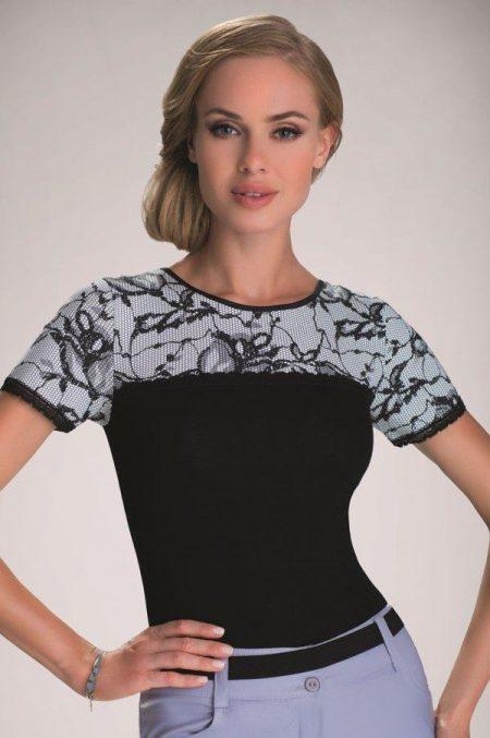 MARIEL - elegantný čiernobiely TOP značky Eldar