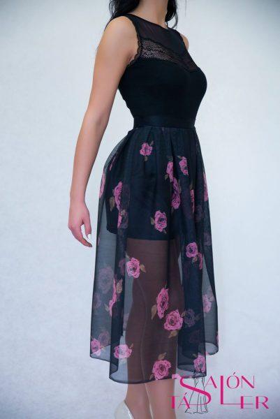 Tylová sukňa so vzorom kvety z dielne KTD STYLE