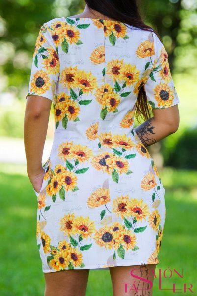 Šaty s motívom Slnečnice zdielne KTD STYLE