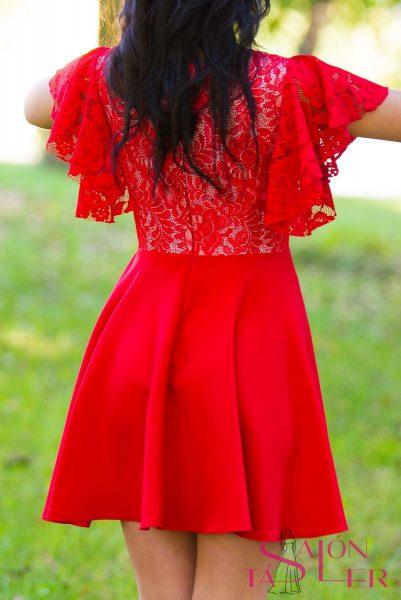 Krajkové šaty s volánmi zdielne KTD STYLE