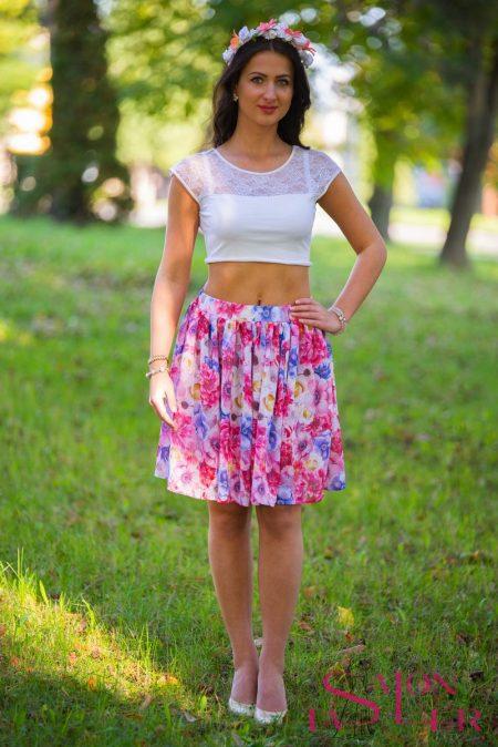 Šifónová vzorovaná sukňa z dielne KTD STYLE