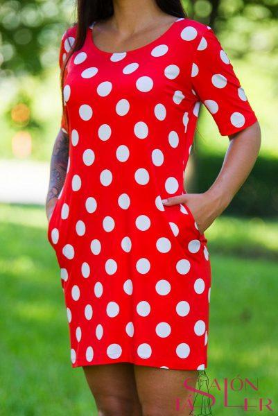 Guľkované šaty zdielne KTD STYLE
