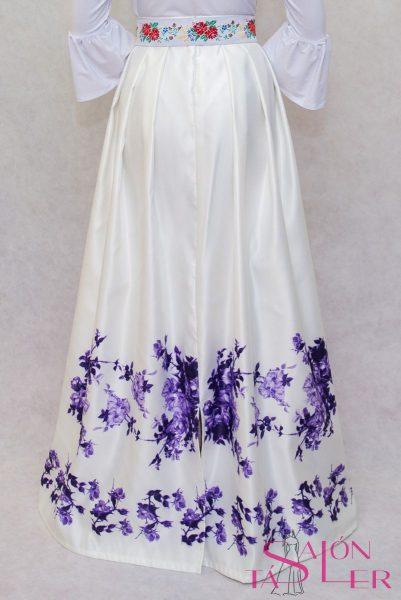 Dlhá sukňa fialový kvet z dielne KTD STYLE