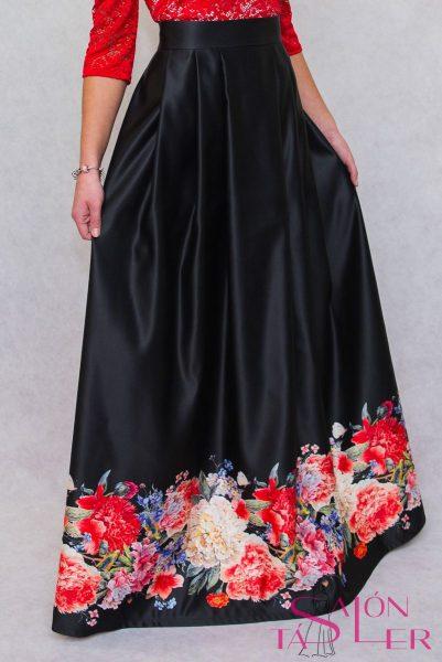 Dlhá sukňa veľké kvety z dielne KTD STYLE