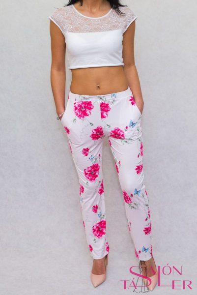 Kvetované nohavice zdielne KTD STYLE