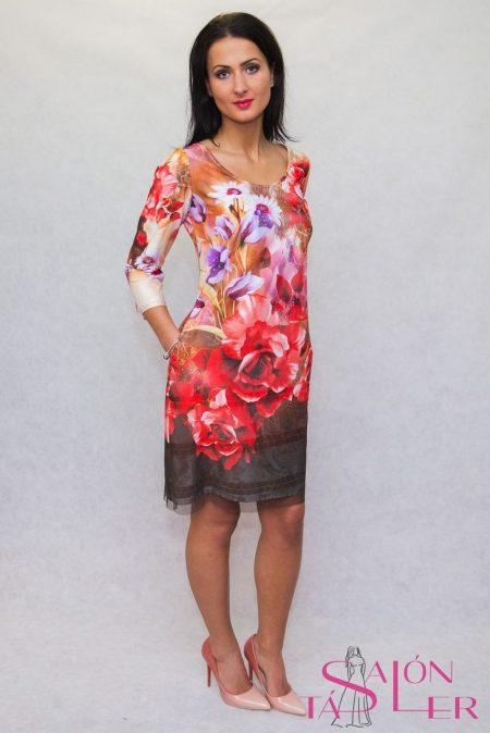 e302eab176 Elegantné dvojvrstvové šaty z dielne KTD STYLE