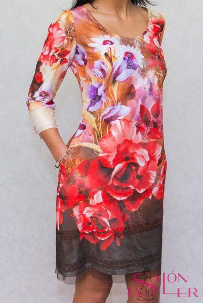 Elegantné dvojvrstvové šaty zdielne KTD STYLE