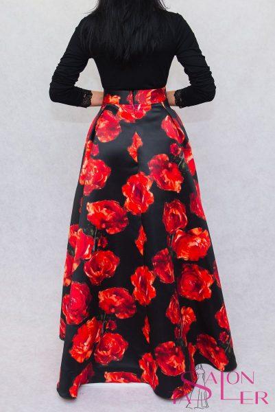 Maxi kruhová sukňa ROSE z dielne KTD STYLE