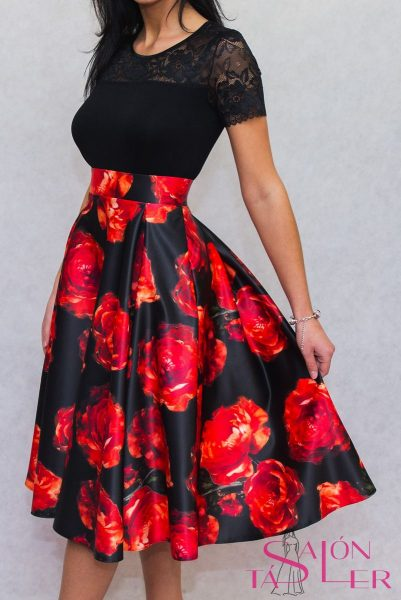 Midi kruhová sukňa ROSE z dielne KTD STYLE