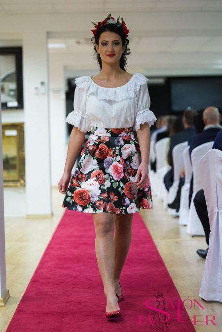 Mini kruhová sukňa ZÁHRADA z dielne KTD STYLE