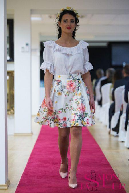 Mini kruhová sukňa LÚKA z dielne KTD STYLE