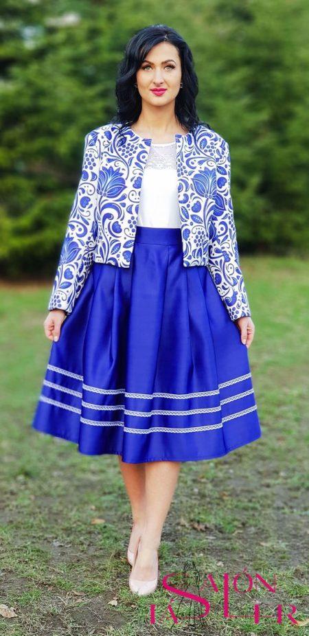 Midi sukňa s čipkou z dielne KTD STYLE