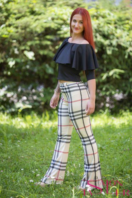 Kárované nohavice značky KTD STYLE