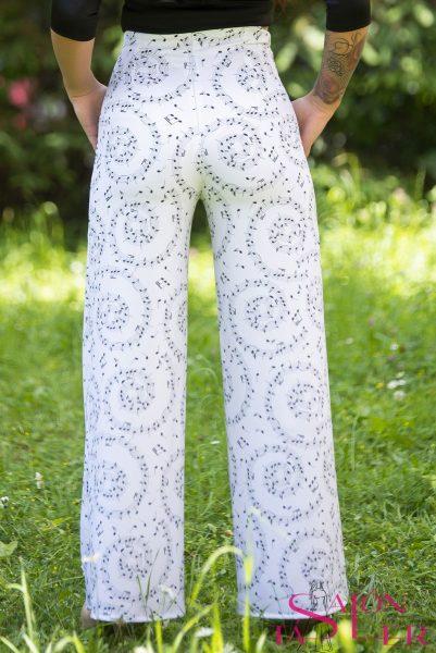 Nohavice so zvýšeným pásom Nota značky KTD STYLE