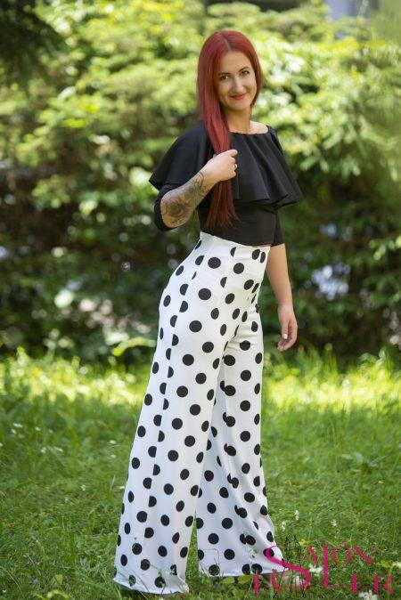Nohavice so zvýšeným pásom Guľka značky KTD STYLE