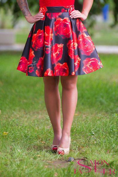 Mini kruhová sukňa ROSE z dielne KTD STYLE