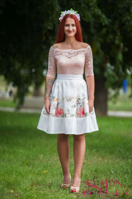 Midi sukňa so vsadkou z dielne KTD STYLE