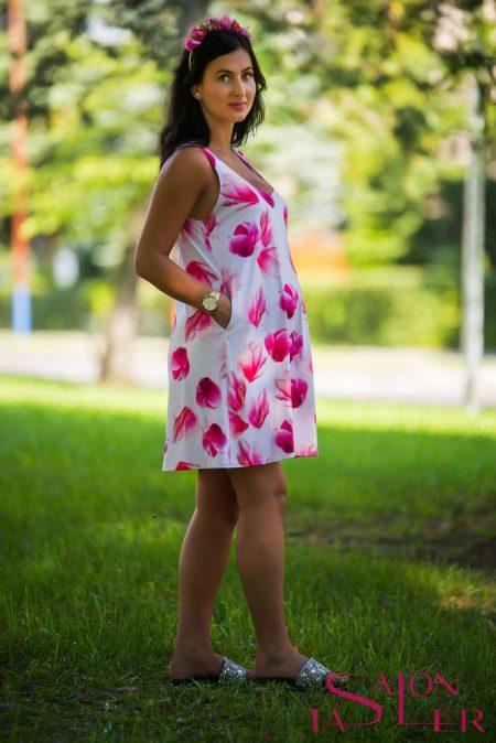 Áčkové šaty Magnólie pre Tehu zdielne KTD STYLE