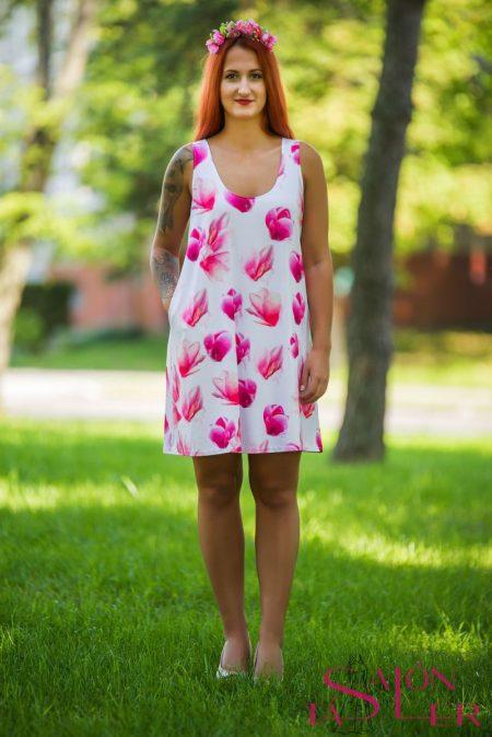 Áčkové šaty Magnólie zdielne KTD STYLE