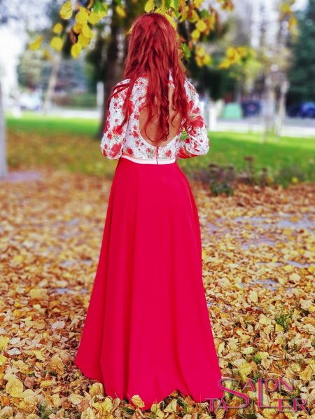 Šaty LACE RED z dielne KTD STYLE