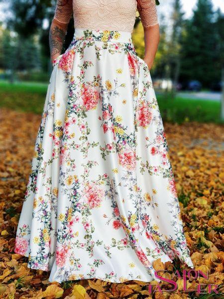 Maxi kruhová sukňa LÚKA z dielne KTD STYLE