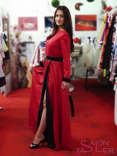 LUREXOVÉ šaty RED z dielne KTD STYLE