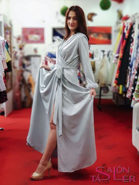 LUREXOVÉ šaty SILVER z dielne KTD STYLE