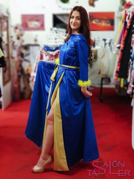 LUREXOVÉ šaty BLUE z dielne KTD STYLE