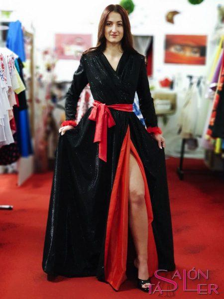 LUREXOVÉ šaty BLACK z dielne KTD STYLE